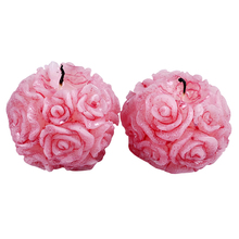 Nicole Silicone Candle Mold 2 Holes Rose Ball Shaped Craft Handmade Soap Mould