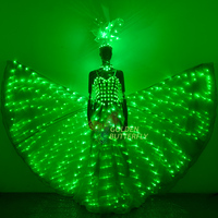 LED wedding dress light performance clothing butterfly wing clothing Luminous dress