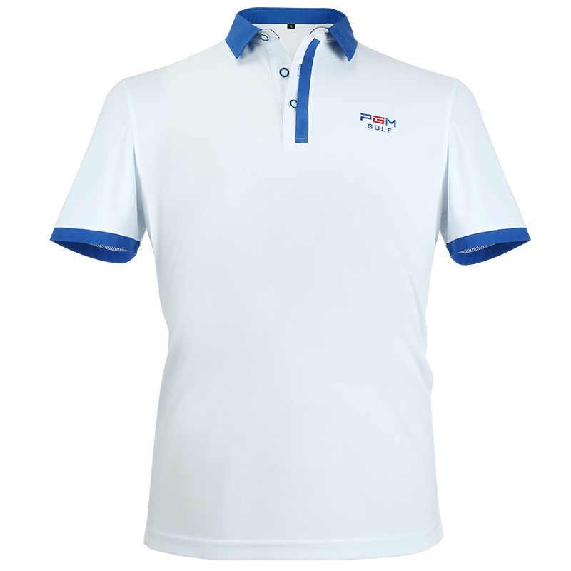 הלבשה גולף עם שרוולים קצר של גברים polo חולצה חולצות הקיץ לנשימה יבש fit ריצת ספורט (לבן)