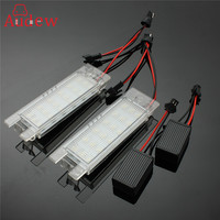 2Pcs Pair 18 LED Car License Plate Light Number Plate Lamp For Opel Vauxhall Corsa Zafira