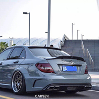 Mercedes W204 Renntech Style Spoiler Carbon Fiber R Style Spoiler For Benz W204 C300 C180 C220 2007 2013 4 Doors Sedan C Class