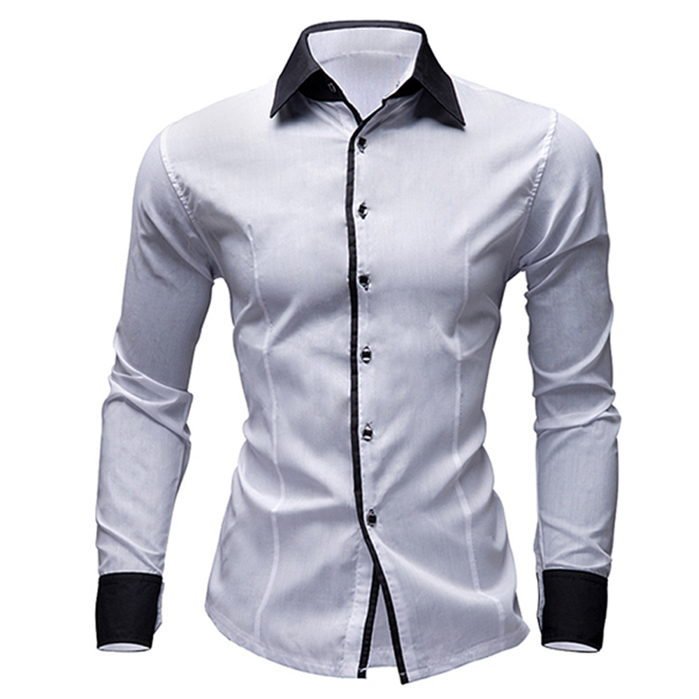 109 15 De Descuentocamisas De Vestir Para Hombre De Marca Nueva Camisas Casuales De Manga Larga Ajustadas Camisas Para Hombre Camisas