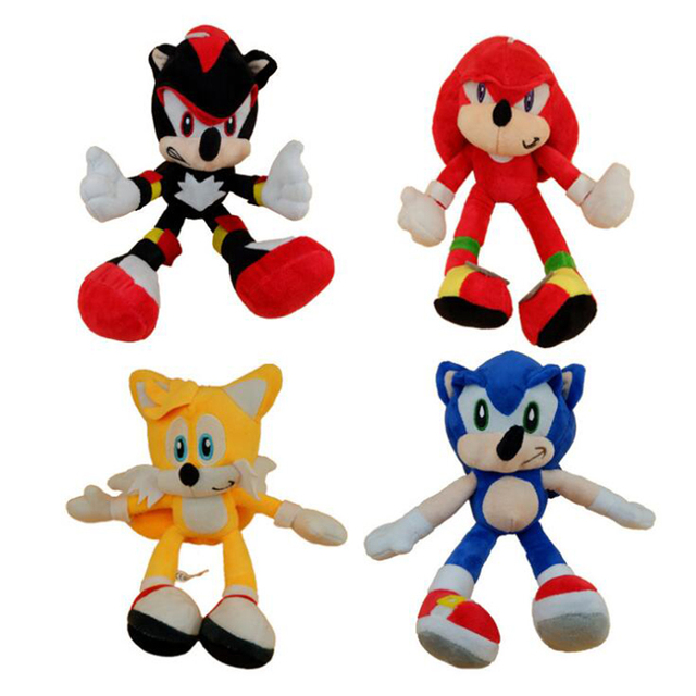 cartoon animation game drawing sonic children s plush shoes toys blue speed sound boy 25 cm children