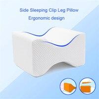 Ortopédico lento rebote memória espuma na perna do joelho mulheres grávidas travesseiro lado dormir clip perna travesseiro coxa almofada de apoio Travesseiros de corpo     -