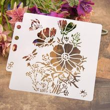 "Buy 13cm 5.1"" Butterfly Flower DIY Layering Stencils Wall Painting Scrapbook Coloring Embossing Album Decorative Paper Card Template directly from merchant!"