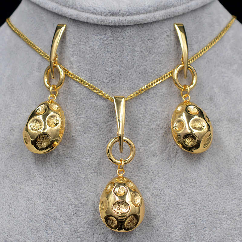 Sunny Jewelry Fashion Jewelry 2019 Women's Earrings Pendant Necklace Copper Jewelry Sets Moon For Party Maxi Dubai Jewelry Sets