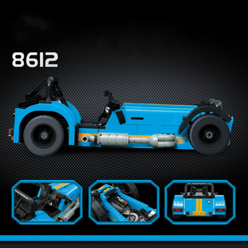 8612 771pcs racers Caterham Seven 620R Sports Car And F430 Sports Model Building Blocks Compatible with 21008 21307 Toys lepin цена