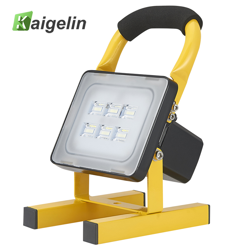 10W Rechargeable LED Floodlight Portable Spotlight 24 LED Waterproof LED Floodlight Emergency Outdoor Lamp Camping Work Light portable led floodlight 10w rechargeable ip65 waterproof outdoor lantern hand led light for camping fishing work emergency lamps