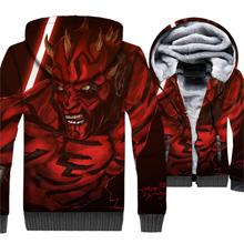 winter casual thick brand clothing plus hoodies 2019 star wars hipster hip-hop jacket wool liner rib sleeve 3D jackets coats men цена и фото