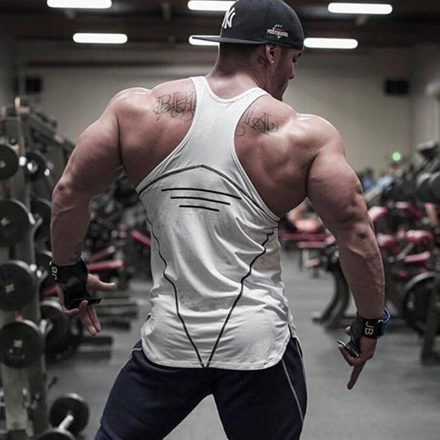 Mens Bodybuilding Tank Tops Gyms Fitness Cotton Sleeveless Shirt Crossfit Brand Clothing Male Stringer Singlet Undershirt Vest