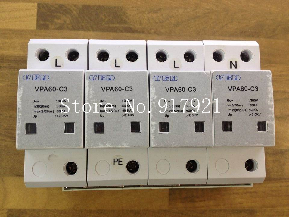 [ZOB] VGN VPA60-C3 3P+N 385V 60KA lightning surge protection device GENUINE NEW vipower vpa 35018nas 0 e