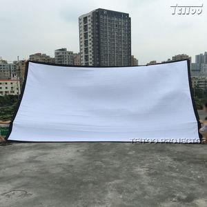 Заводские продажи! Портативный складной экран для проектора HD 200 дюймов 16:9, передняя проекция, люверсы из белой холщовой ткани без рамки/Под...
