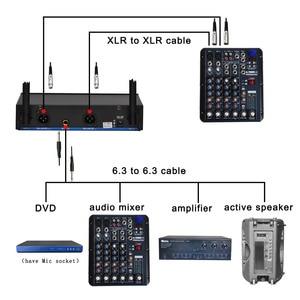 Image 5 - Lomeho LO V52 2 דרך VHF מתכת כף יד משדר דינמי 2 ערוצים כנסיית ועידה קריוקי מסיבת DJ אלחוטי מיקרופון