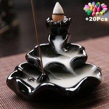 Incense-Burner Stick Backflow Ceramic Home-Decor Creative Free-20cones Use-In