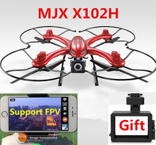 MJX X102H Quadcopter with WIFI FPV 720P C4018 Camera  4CH 6Axis Altitude Hold Headless Mode One Key Return Phone RC drone RTF