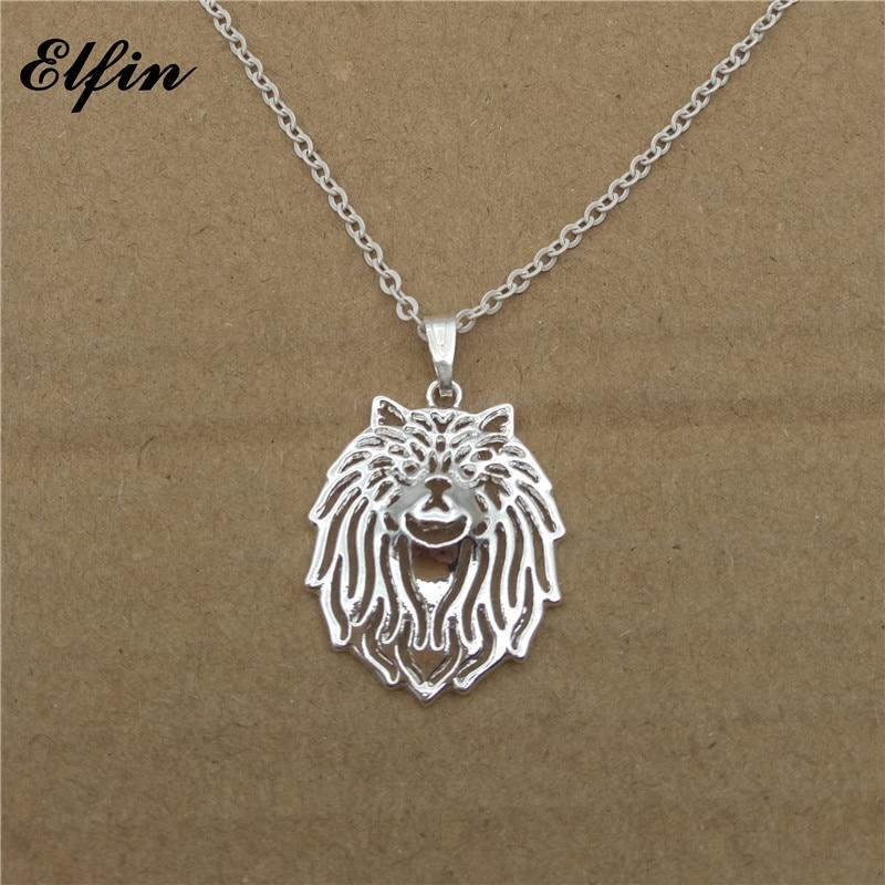 Elfin 2018 Trendy Persian cat Necklace Gold Color Silver Color Animal Cat Jewellery Pendant Necklace Women Steampunk