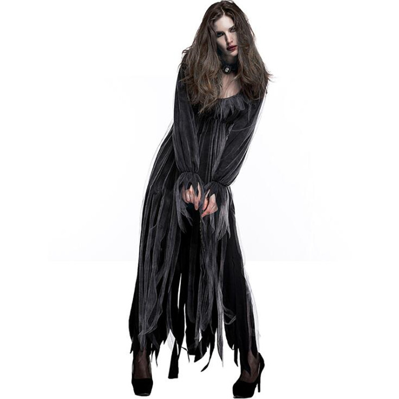 Scary Halloween Costume For Women Zombie Bride Party Cosplay Clothing