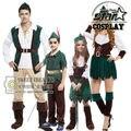 Padre y Madre Trajes de Peter Pan Cosplay Disfraces de Halloween Fiesta de Carnaval Familia Pareja Juego Niños Niñas Trajes