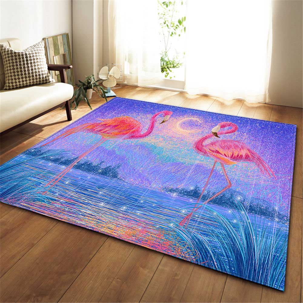 Nordic Flannel Living Room Carpet Point Plastic Bottom Non-slip Area Rugs Children Room Decor Floor Mat Rugs Flamingo CarpetsNordic Flannel Living Room Carpet Point Plastic Bottom Non-slip Area Rugs Children Room Decor Floor Mat Rugs Flamingo Carpets