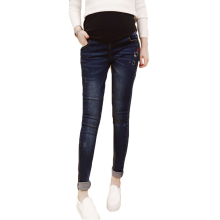 Pants for pregnant women autumn fashion pregnant stomach lift feet stretch winter clothes maternity jeans