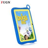 FUGN Original Kinder Tabletten Android PC 7 zoll Tabelt Quad Core 512 Mt RAM 8 GB ROM 16 GB TF Karte Dual Kameras mit Silikon Fall 8'