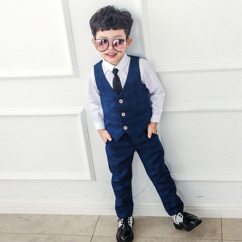 Suit for Boys Tuxedo Boys Suits for Weddings 3pcs set Coat Vest Pant Baby Boy Blazer Wedding Baby Suit Gentleman 3 10Y in Blazers from Mother Kids
