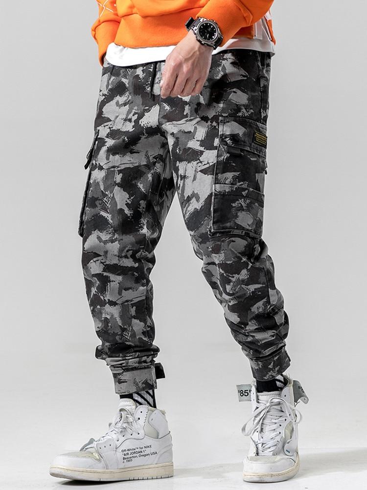 Cargo-Pants Pocket Male Trousers Streetwear Joggers Harem Military Khaki Black Army-Green