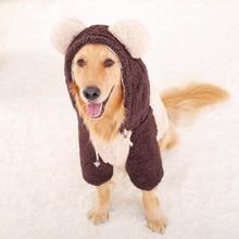 Roupa de cachorro grande, casaco com capuz para cães de estimação, de tamanho grande, outono e inverno, fantasia para cães pug pug