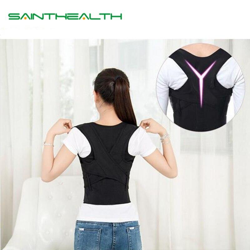 Children Adult Corset Back Posture Corrector Therapy Shoulder Lumbar Brace Spine Support Belt Posture Correction For Men Women