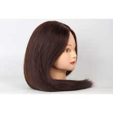 Brown Hair Mannequin Head for Professional Style Training Mannequin Head for Hairdressers Training Head  head training