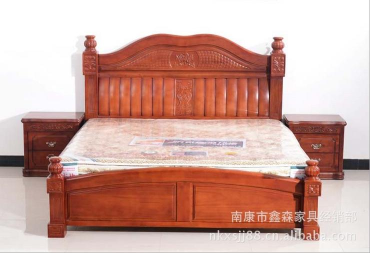 Nankang Furniture Factory Direct Wood Bed 1 8 M And Post Classical