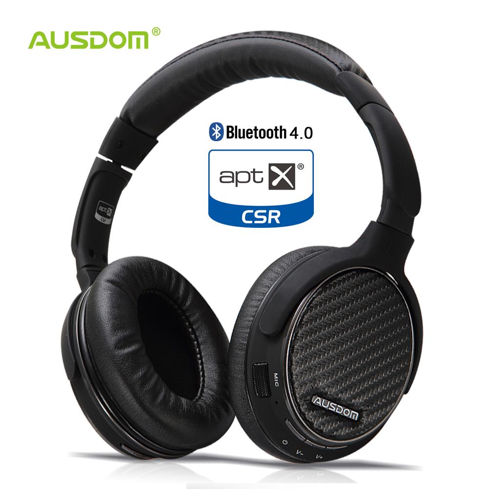 Prix pour Ausdom m05 aptx hifi sans fil bluetooth casque pliable sur-oreille stéréo deep bass casque avec microphone pour iphone xiaomi
