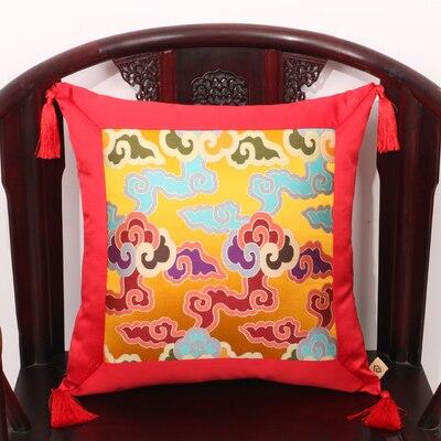Кисточка пэчворк натуральные шелковые наволочки с рисунком шелковицы рождественские Чехлы Подушка, домашний декор диван стул китайский наволочка