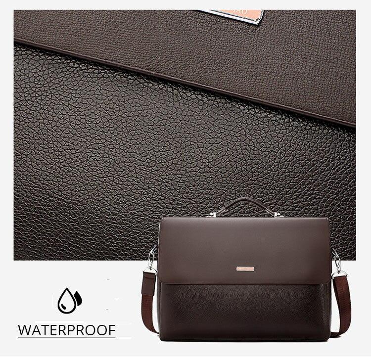 HTB1GPgYO9zqK1RjSZFjq6zlCFXaU 2020 Fashion Business Men Briefcase Leather Laptop Handbag Tote Casual Man Bag For male Shoulder Bag Male Office Messenger Bag