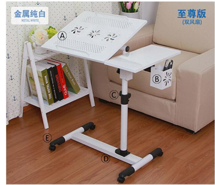 Multipurpose 360 Degrees Rotation Laptop Desk Movable Anti-Slip  Notebook Computer table with Pen case