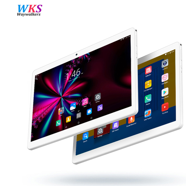 Free shipping tablet PC 10.1 Inch Android 7.0 Octa Core 4GB RAM 64GB RAM 1920x1200 IPS Dual SIM and Camera WiFi GPS Bluetooth FM