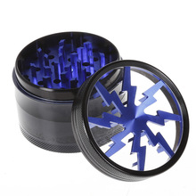 4 Layers Lighting Herb Grinders Aluminum Alloy Weed Grinder Smoking Accessories Tobacco Crusher Cigar Tool Cigarettes Machine