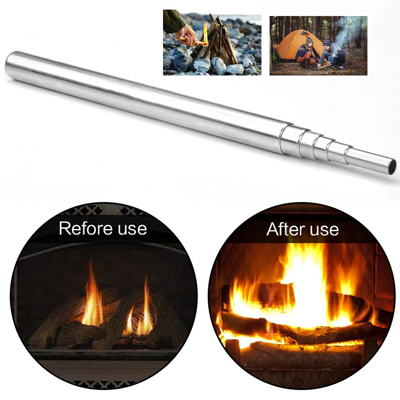 Camping Bellows Portable Fire Tool High Temperature Resistant Portable Camping Hiking Bellows Grill Fired Outdoor Camping Picnic