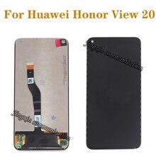 Huawei honor view 20 lcd 디스플레이 + 터치 스크린을위한 100% 오리지널 명예 v20 lcd 수리 부품