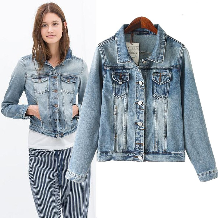 Popular Denim Jacket Ladies-Buy Cheap Denim Jacket Ladies lots ...
