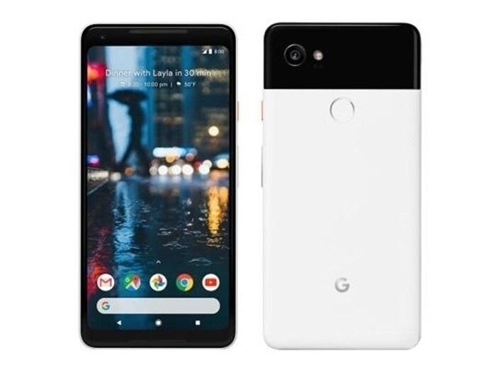 Débloqué Original L'UE version Google Pixel 2XL 4g LTE 6.0 pouces Android téléphone portable Octa Core 4 gb RAM 64 gb/128 gb ROM Unique sim Téléphone