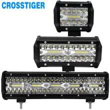 4 7 15 بوصة LED ضوء العمل 60 واط 120 واط 300 واط قبالة الطريق مصابيح القيادة قضيب مصابيح عملي مصابيح كشاف صغيرة الحجم 4WD 4x4 شاحنة SUV ATV جرار قارب