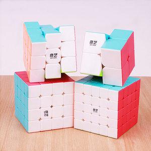 Image 2 - Qiyi Warrior 3X3X3 4X4X4 5X5X5 Magic Cubes Kinderen speelgoed Speed Puzzels Kubus Learning Sticker Minder Magico Speelgoed Pocket Cube 2x2x2