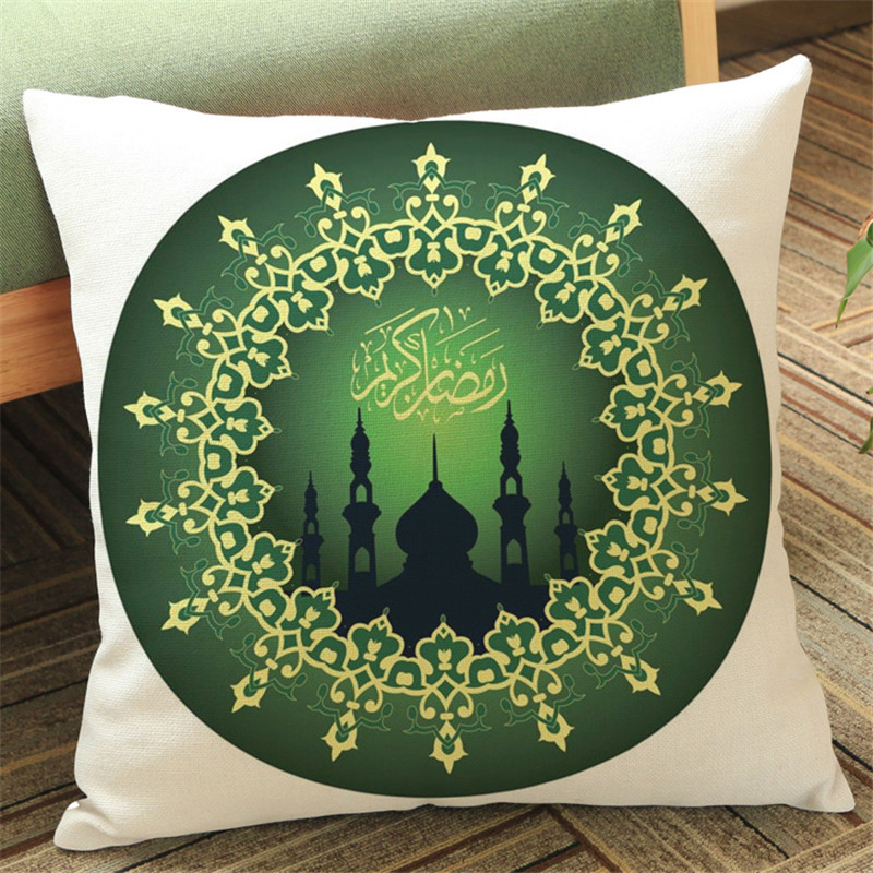 45x45cm Islam Muslim Religion Datura Flower Geometric white Pillow case Cushion Cover Sofa Car office chair Home Decoration gift