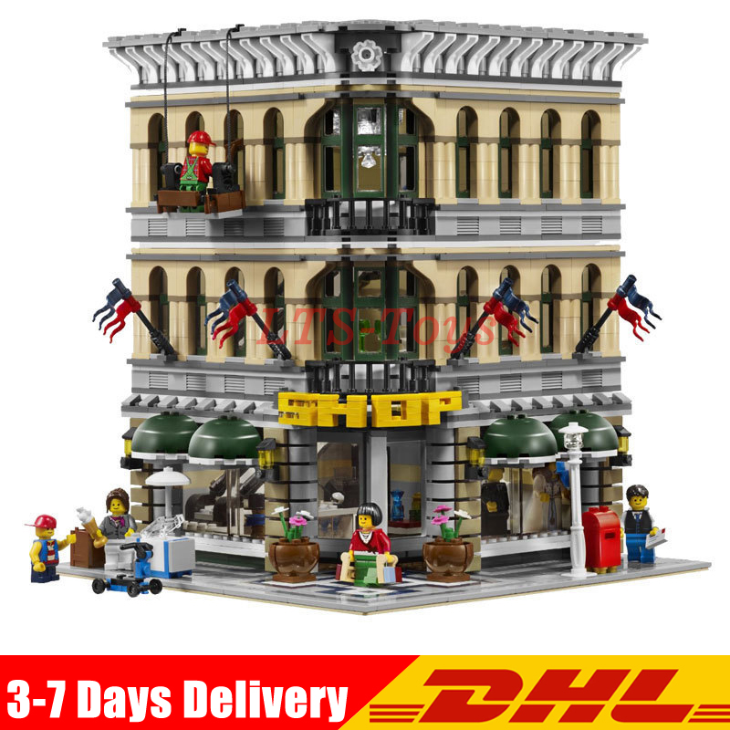 IN Stock DHL LEPIN 15005 2232pcs City Grand Emporium Model Building Blocks Kits Brick Toy Compatible LegoINGS Educational 10211 2232pcs lepin 15005 city creator grand emporium model building blocks educational gifts diy kits brick toys compatible 10211