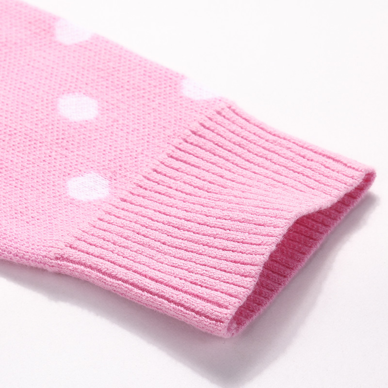 Image 5 - Spring and Autumn Girl 100% Cotton Dots Pattern Princess Turtleneck Sweater Children's Clothing Pullover Sweater for Girls-in Sweaters from Mother & Kids