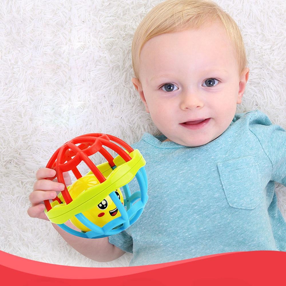 Купить с кэшбэком Baby Rattles Toy Fun Ball Ring Develop Baby Intelligence Training Grasping Ability Rattles Baby Toys 0-12 Months