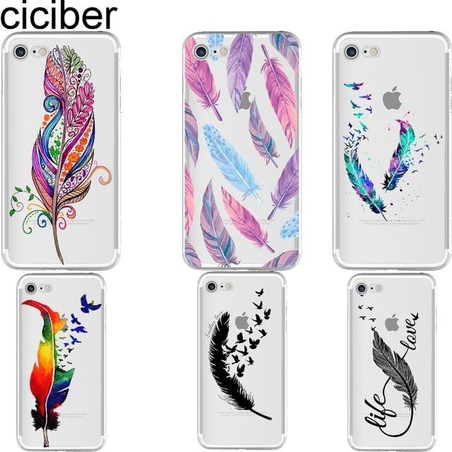 coque plume iphone 8