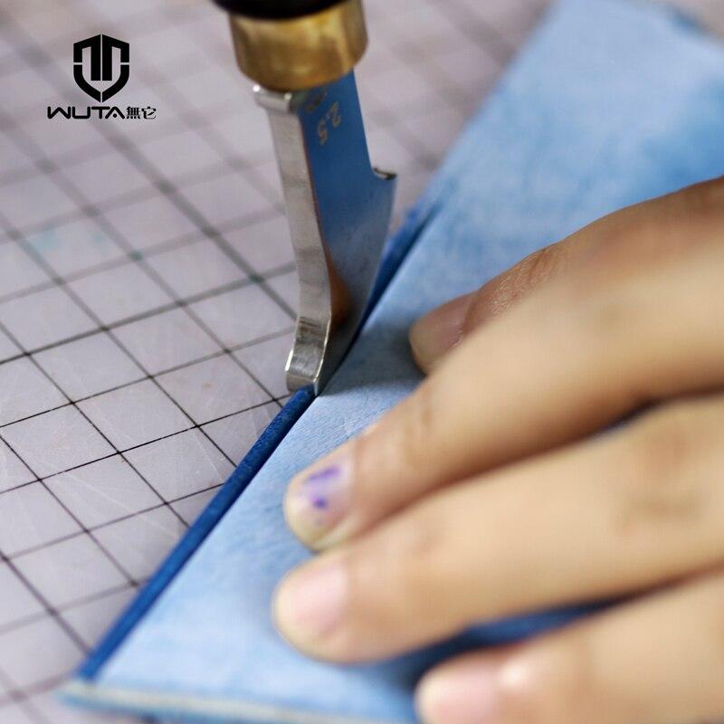 WUTA High Quality Leather Edge Creaser Stainless Steel Blade+Ebony Blackwood Handle Marking Edge Decorate Line Tool Leathercraft