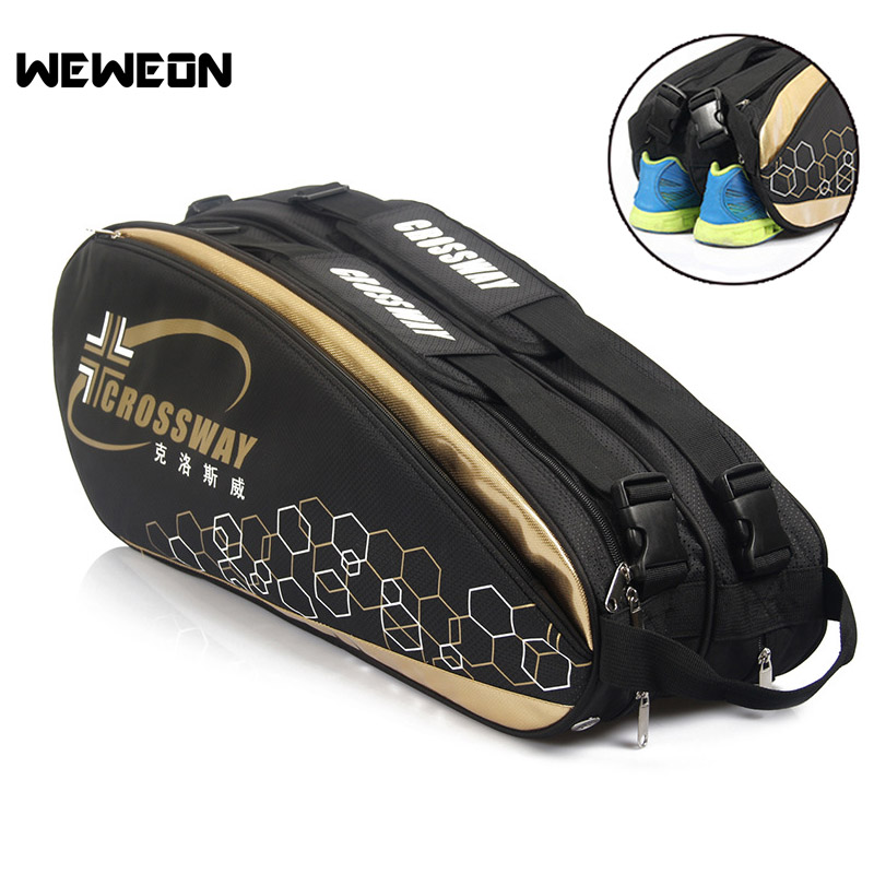 2018 New Professional Racquet Sports Bag Badminton Package Backpack Tennis Backpack Tennis Racket Bag Badminton Racket Bags